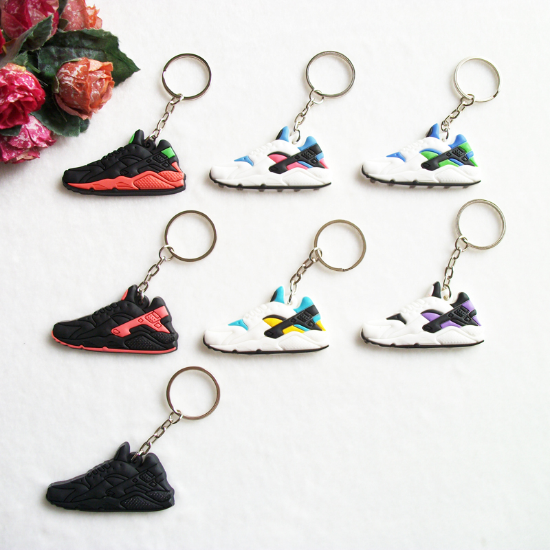 US $0.64 30% OFF|Mini Silicone Huarache Keychain Bag Charm Woman Key Ring Gifts Sneaker Key Holder Pendant Accessories Jordan Shoes Key Chain in Key