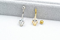 20pcs Surgical Steel CZ Gems Navel Belly Ring Button Bar 14g Navel Rings Body Piercing Jewelry