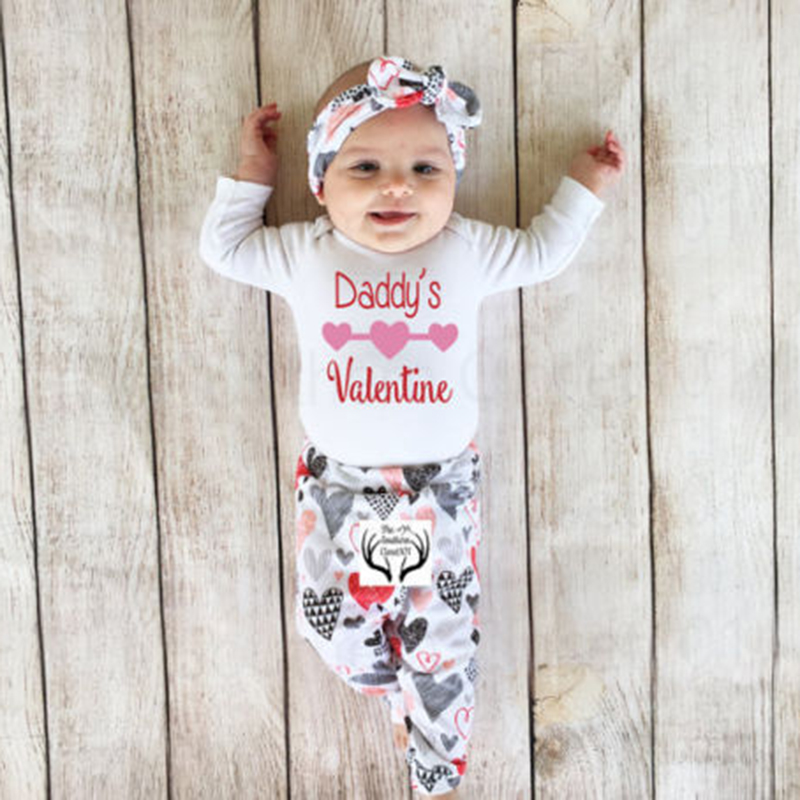 0-24M 4PCS Newborn Baby Girls Clothes Princess summer Top Cute Romper Long Pants Hat Outfits Clothes lovely floral