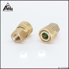 PCP Paintball High Pressure Connector Female Fill Hose Charging Fitting 8MM Quick Disconnect Thread M10*1 copper 2pcs