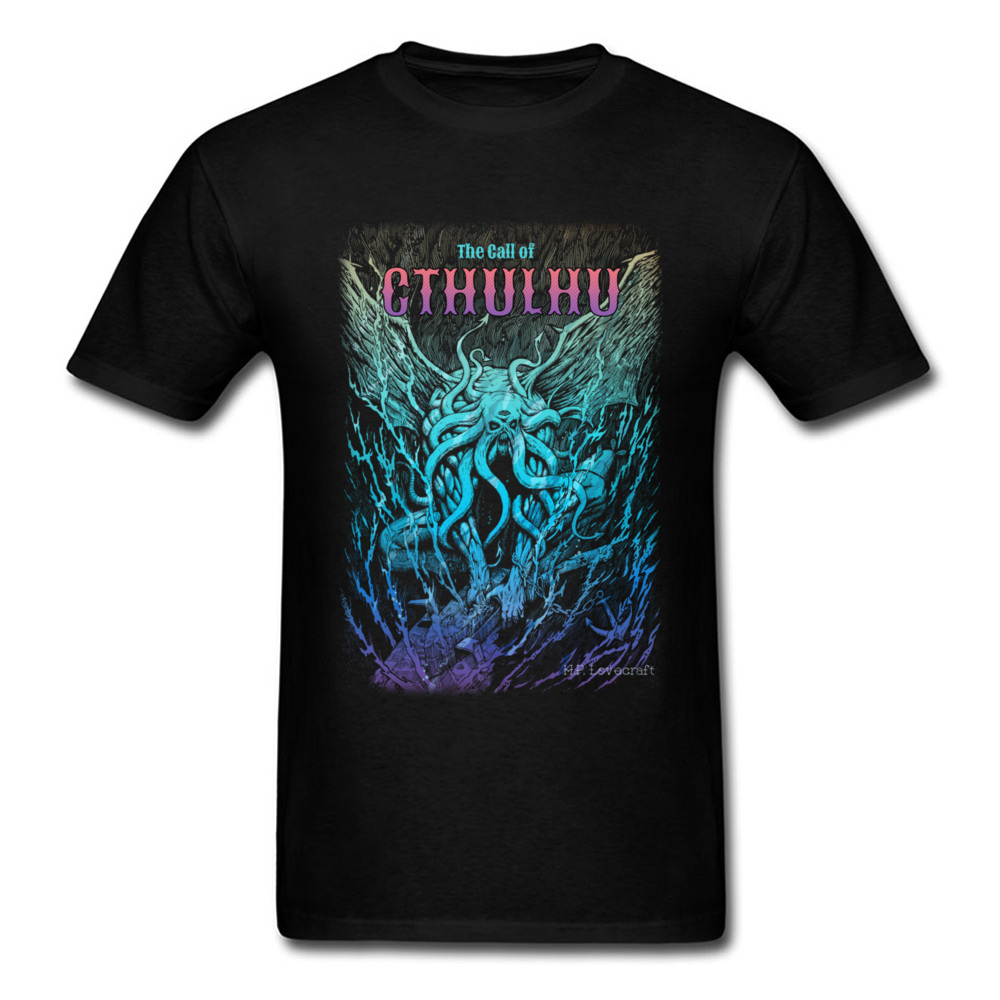 A Beast Nightmare Of Cthulhu T Shirts Men Cool Novelty Monster Tshirt Mens Summer Short Sleeve Shirts Clothes 2018 Fathers Day