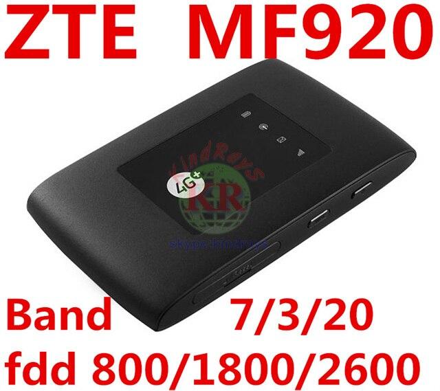 Débloqué ZTE MF920 4G LTE Mobile WiFi poche mifi routeur 4g Hotspot routeur Modem lte modem wifi 4g routeur fente pour carte sim mf920a