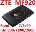 Desbloqueado ZTE MF920 4G LTE Mobile WiFi Bolsillo Módem mifi router 4g Hotspot Router pk mf95 mf910 mf823 mf90 mf93