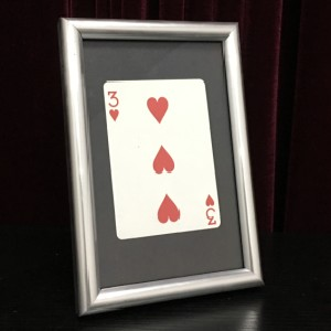 Carte signée Par le Cadre (11 cm * 16 cm) japon Astuces Étape Magiques Carte Fuite Illusions Magicien Jouets Fun Close up Magia