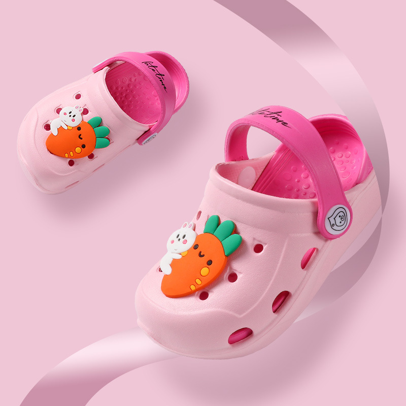 Pink Garden Cave Shoes Infant Sandals Baby Slippers Summer Boy Slipper Baby Beach Shoes Cute Cartoon Toddler Kids Slippers Girls