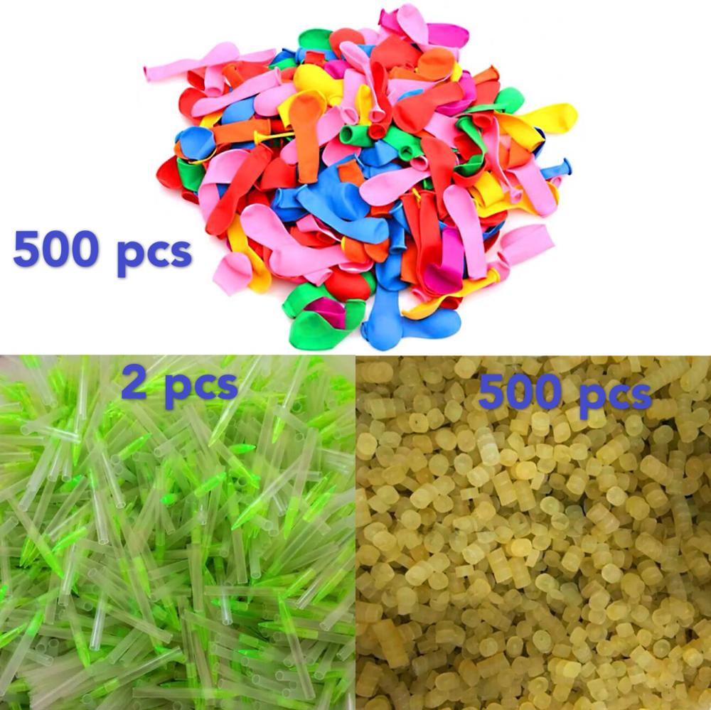 500pcs Funny Water Balloons+ Rubber Magic Toys Summer Beach Party Outdoor Filling Balloon Bombs Toy For Kids