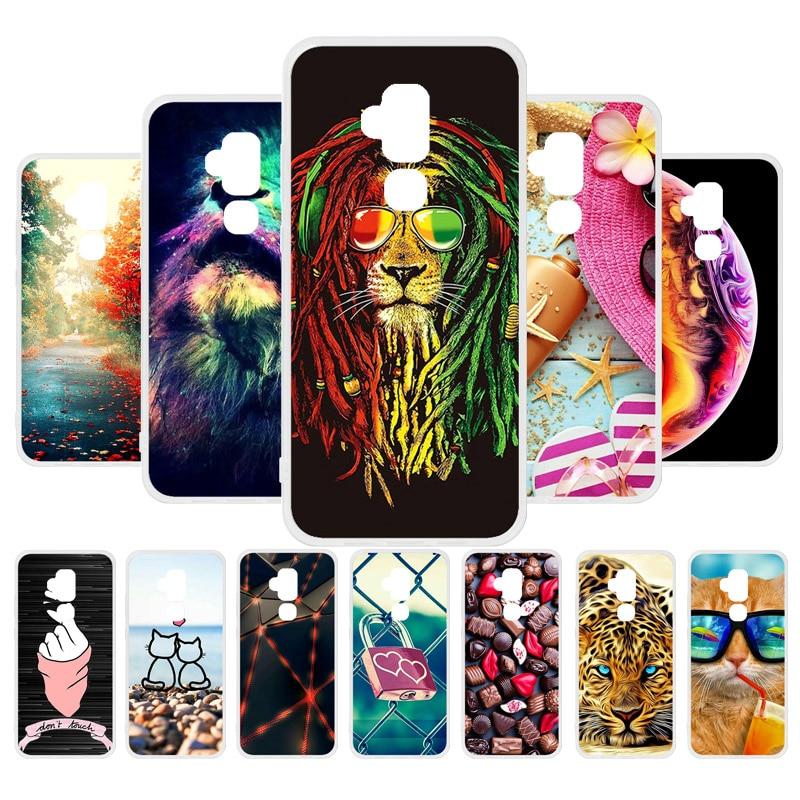 3D DIY Painted Phone Case For Blackview S8 Case Silicone Soft TPU Cover For Blackview S8 Covers Flowers Cute Animal Bag 5.7