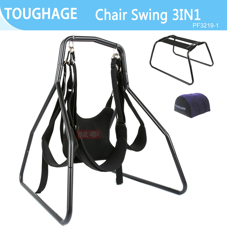 TOUGHAGE Adult Sex Furniture Kit Erotic Games Luxury Love Chair Sex Swing Pillow Wedge Cushion Bondage Set Toys For Couples цена