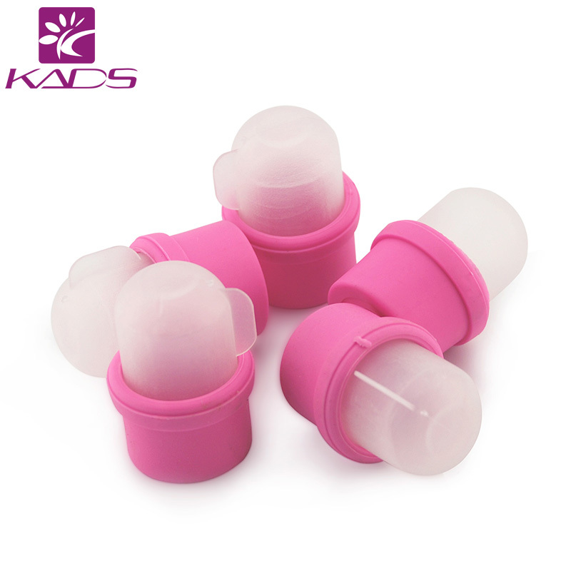 KADS 100packs/set Wearable Salon Acrylic Nail Polish Remover Soak Soakers Cap Tool Pink UV Gel 10pcs pink wearable nail soakers polish for remover acrylic