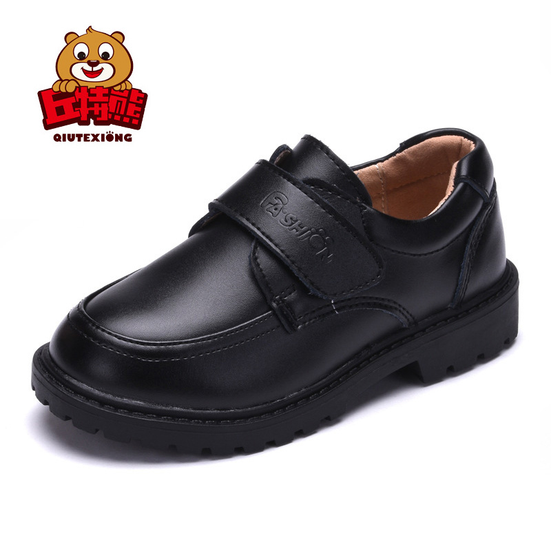 Genuine Leather Boys Shoes Fashion Girls Black School Shoes 2018 Autumn Girls Shoes for Party And Wedding Formal Shoes Kids