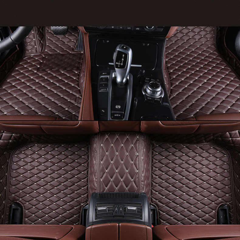 Auto Floor Mats For BMW E82 COUPE 1M 120i 2007-2014 Foot Carpets Step Mat High Quality Brand New Embroidery Leather Mats floor mats auto foot mat car step mats for suzuki s cross 2014 2016 high quality solid color mats star war