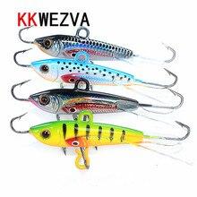 KKWEZVA 4pcs 60mm 10g Fishing Lure winter Ice Fishing Hard Bait Minnow Pesca Tackle Isca Artificial Bait Crankbait Swimbait