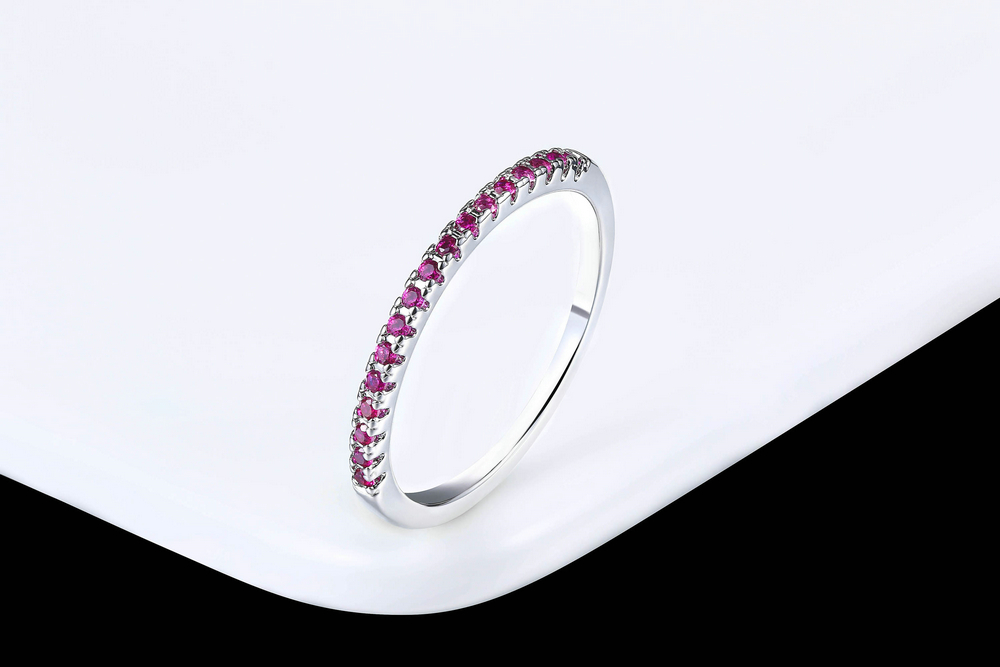 Wedding Ring For Women Man Concise Classical Multicolor Mini Cubic Zirconia Rose Gold Color Fashion Jewelry R132 R133 ZHOUYANG 6