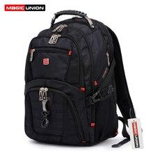 """MAGIC UNION gorąca sprzedaż Oxford mężczyźni plecak na laptopa 15 """"plecaki męskie torby podróżne chłopcy dzieci torby szkolne wodoszczelny tornister"""