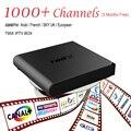 Europeu Caixa De IPTV Android TV Caixa Céu Receptor IPTV & 1000 + Canais Sky Francês Turco Holanda Melhor Do Que MXV Android TV caixa