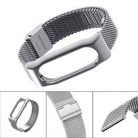 Per Xiaomi Mi Band 2 Smart Bracciale In Acciaio Inossidabile Watch Band cinghia Cinghie Mi fascia Da Polso In Metallo Per MiBand 2 Orologio Intelligente 2
