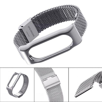 For Xiaomi Mi Band 2 Smart Bracelet Stainless Steel Watch Band Strap Metal Wrist For MiBand 2 Smart Watch Straps Mi band 2