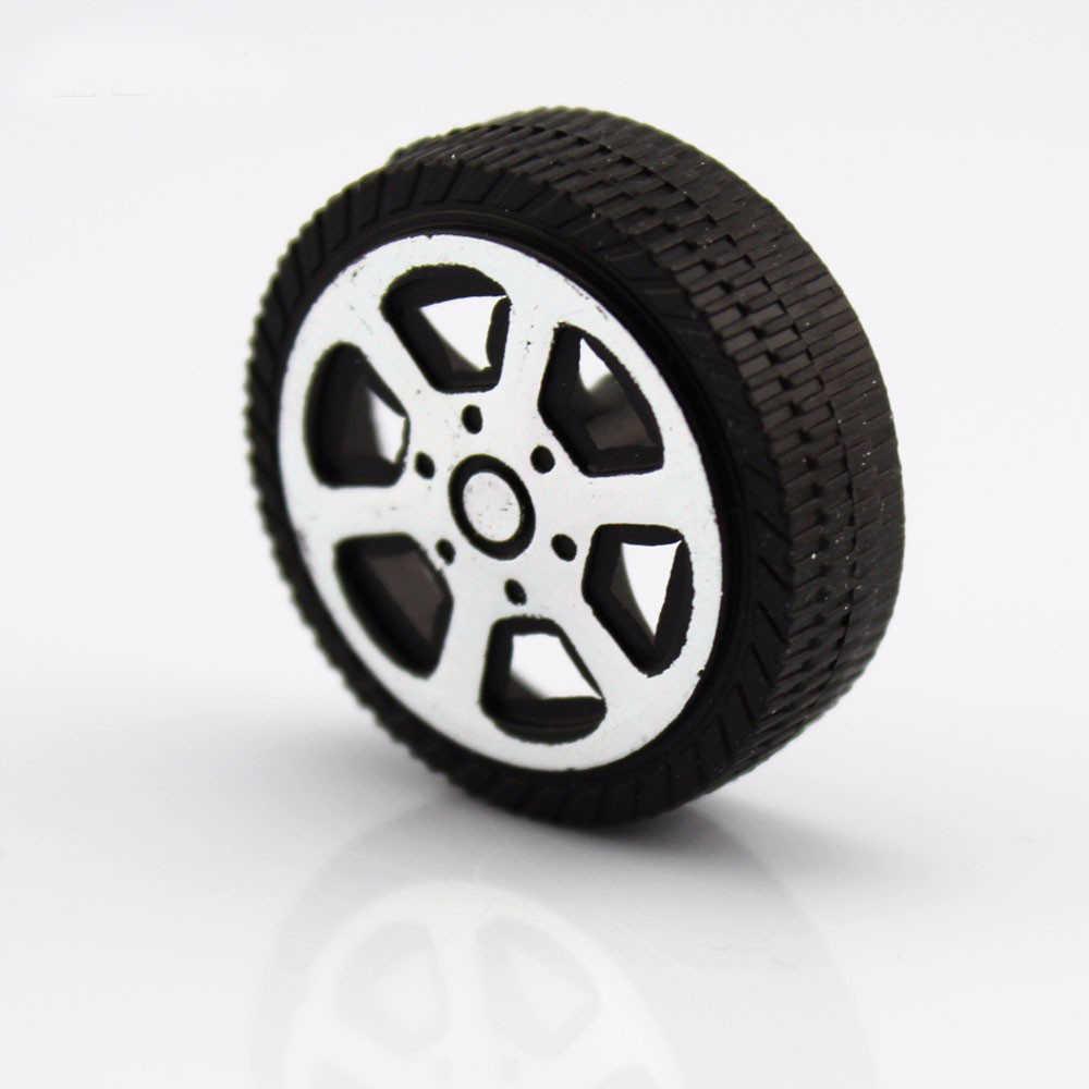 10 ピース 30*9*1.9 ミリメートルプラスチックトロリーホイールおもちゃホイールモデルアクセサリー Diy 手作りリモコンの付属品
