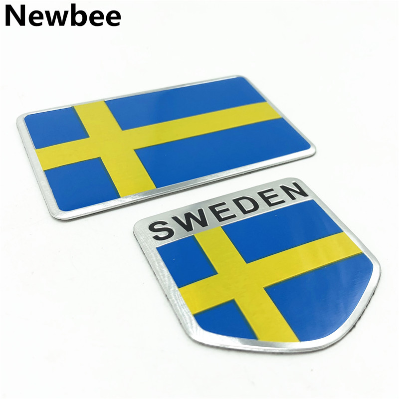 Aliexpress.com : Buy 3D Aluminum Sweden Flag Emblem Decal