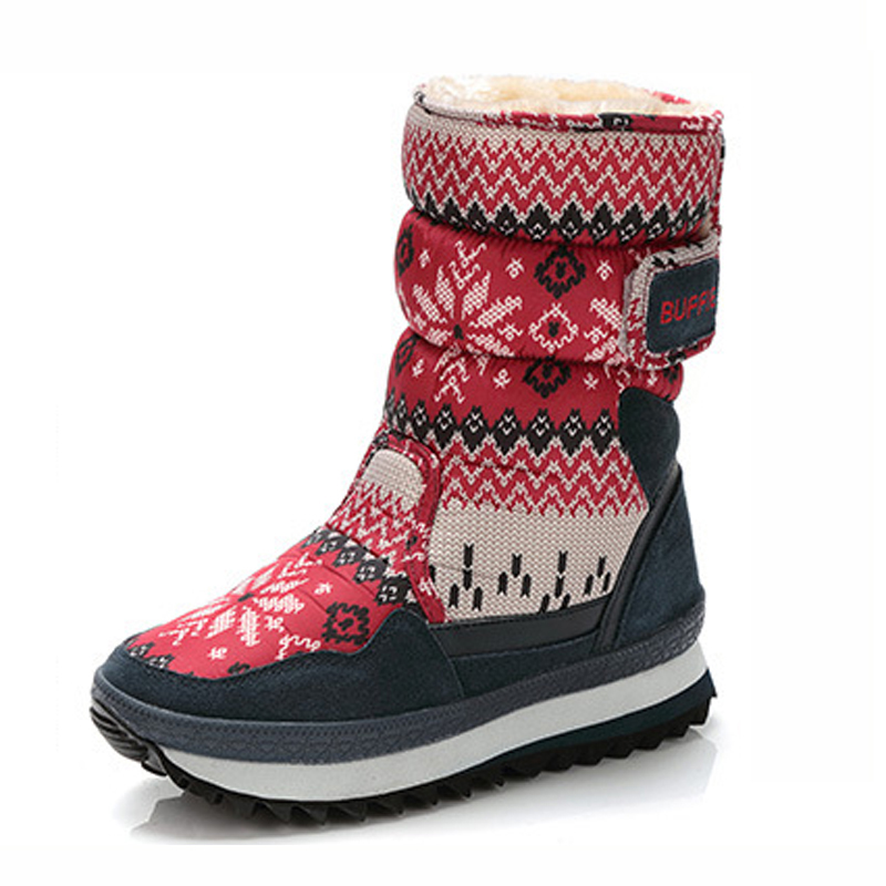 Women Snow Boots 2017 winter shoes women thick Plush warm Non-slip waterproof boots for -40 degrees size 35 - 41 skhek girls boy boots for kid snow botas winter warm plush baby boot waterproof soft bottom non slip leather booties kids shoes