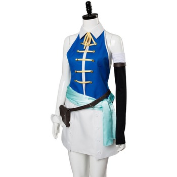 Season Fairy Tail Lucy Cosplay Costume Women Girls Halloween Party Dress