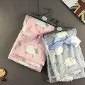 Детские одеяла 2016 новый сгущает ddouble слой ватки пеленать младенца конверт обернуть новорожденного одеяло детское постельное белье