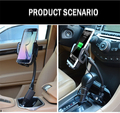 Cobao Car Mount Universal Mobile Phone Car Holder Dual USB Charger Holder Stand For Iphone Samsung soporte celular para auto