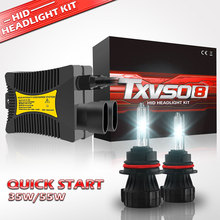 HESITE 35W 55W 9004/9007 Hi/Lo Auto Car Bixenon Headlight Bulb Conversion Kit 30000 Hour Lifespan 4300K 5000K 6000K 8000K 12000K