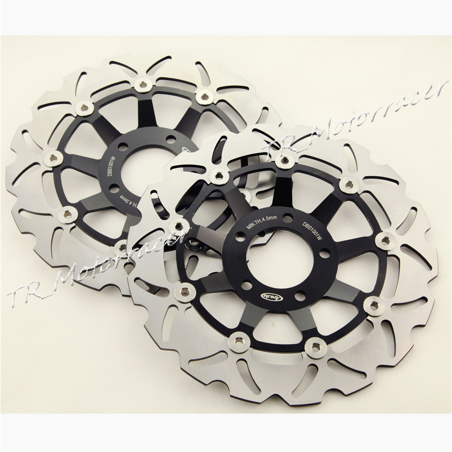 Front Brake Disc Rotors for Suzuki GSF 600 Bandit 2000-2004 & SV650 1999-2000  GSX 750F Motorcycle Brake Disks 2000 2001 2002  motorcycle front brake disc rotor for suzuki gsx 600 f 1989 1990 gsx 750 f katana 1998 1999 2000 2001 2002 2003 gold