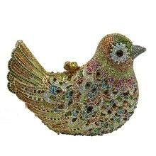 Vogel Clutch Handmade Kristall 3D Förmigen Kristall Kupplung Geldbörse Kristall Cocktail Abendtasche
