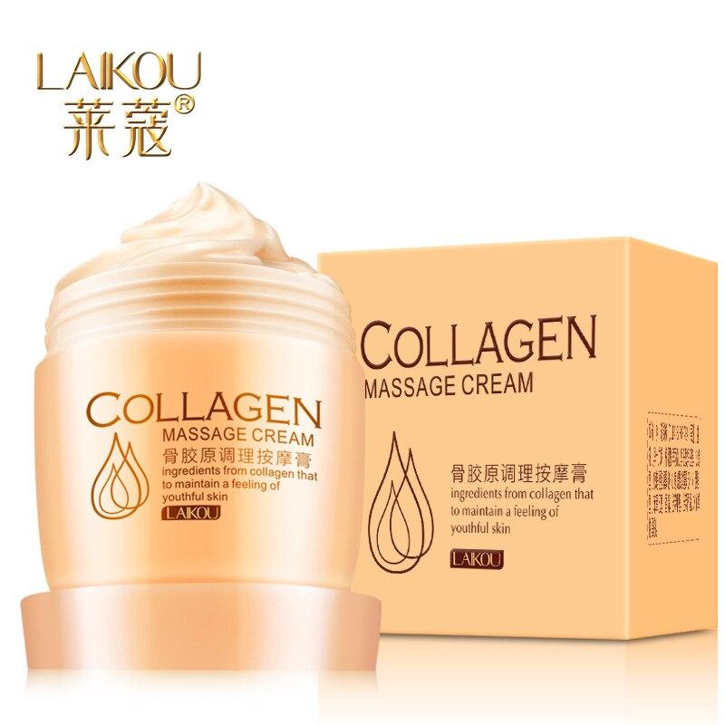 LAIKOU Collagen Massage Whitening Cream Exfoliate Deep Pore Cleansing Oil Balance Facial Cream Massage Cream Skin Care