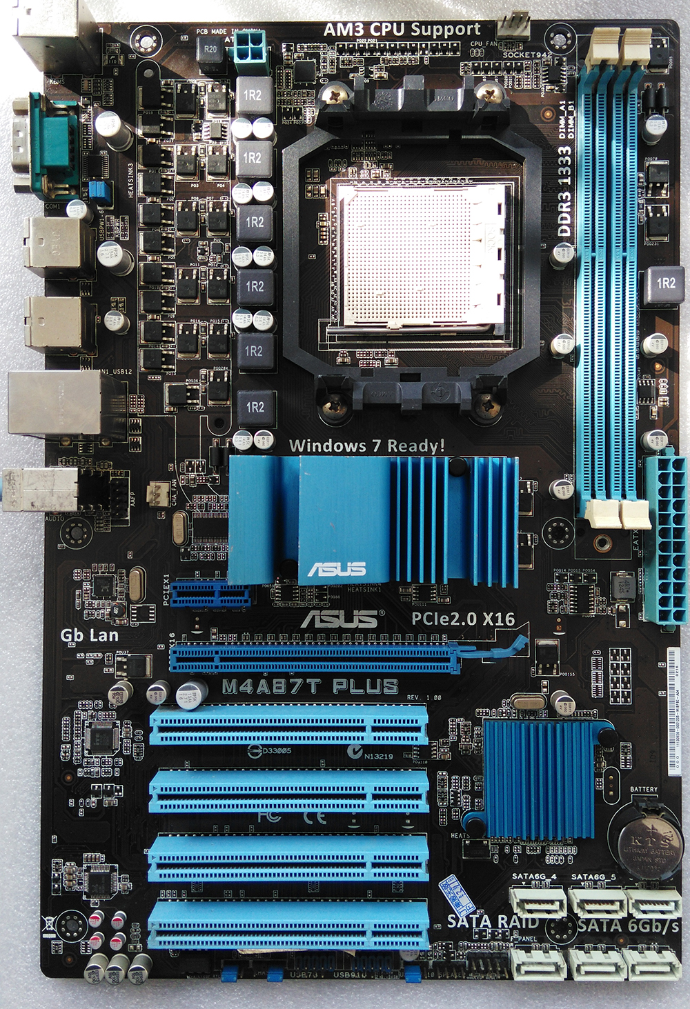 Used,for Asus M4A87T PLUS Original Desktop Motherboard 870 Socket AM3 DDR3 SATA3 USB2.0 free shipping original motherboard for asus f1a55 v plus socket fm1 ddr3 boards a55 desktop motherboard