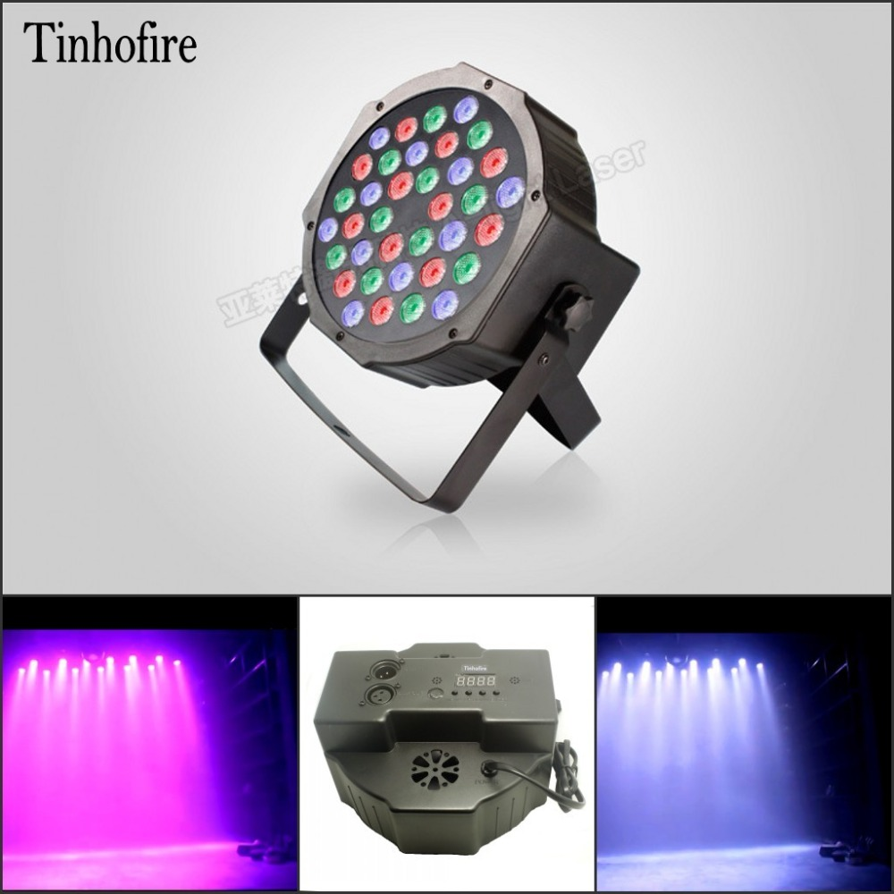 Tinhofire Pa-36 Stage Light 36W 36 LED RGB Par Light DMX512 Master Slave LED Flat DJ Equipment Controller Discos KTV Music Light dmx512 digital display 24ch dmx address controller dc5v 24v each ch max 3a 8 groups rgb controller