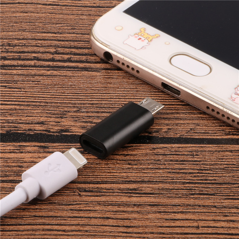 SIANCS Alloy Micro USB Male to 8 Pin Female USB Cable Converter Fast Charging Connector Adapter for Iphone Cable Android phone usb male to micro usb male flat charging cable pink white 20cm