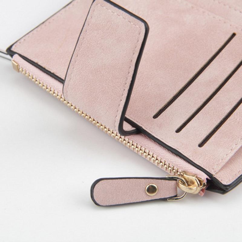 Baellerry Luxury Short Womens Cute Zipper Coin Pocket Trifold Wallet Leather Women Card Holder Clutch Hasp Ladies Purse W105 5