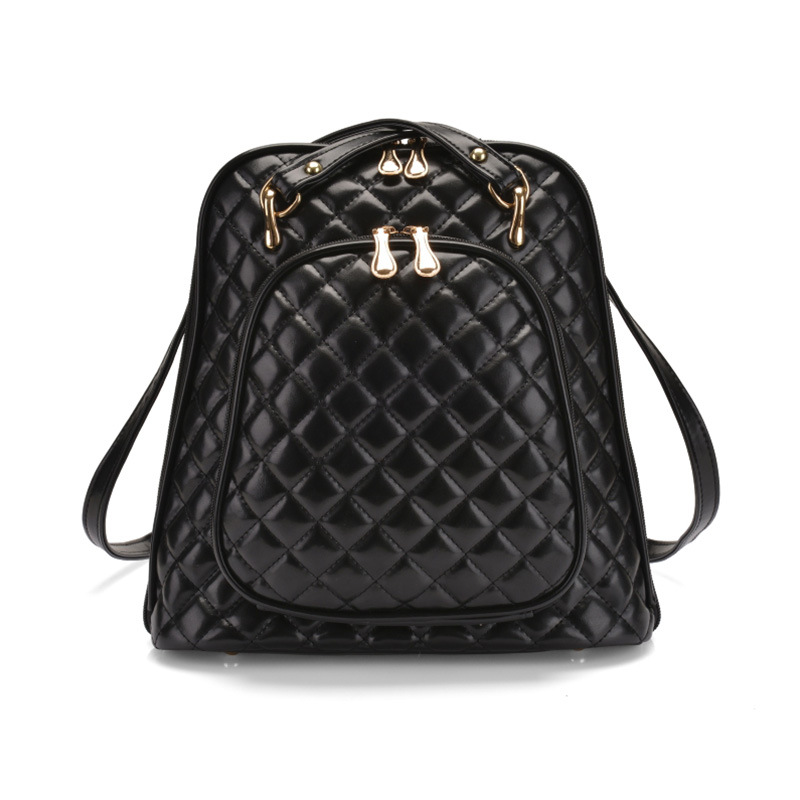 RanHuang Women Casual Backpack 2017 Fashion Plaid PU Leather Backpack Designer School Bags For Teenage Girls