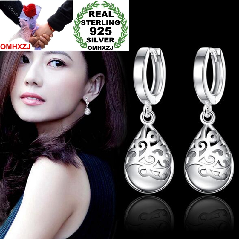 OMHXZJ Wholesale Jewelry fashion kpop star for Woman gifts Fine totem opal 925 Sterling Silver buckle Hoop Earrings YS177OMHXZJ Wholesale Jewelry fashion kpop star for Woman gifts Fine totem opal 925 Sterling Silver buckle Hoop Earrings YS177