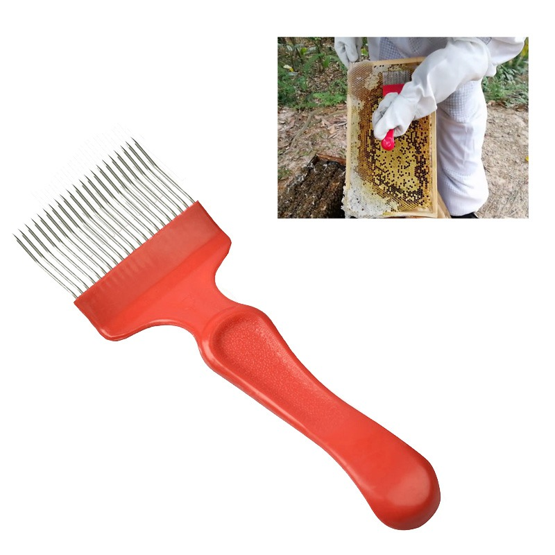 1pcs 21 Pin Tines Comb Uncapping Fork Scratcher Cut Honey Fork Bee Beekeeping Tools Beekeeping Equipment