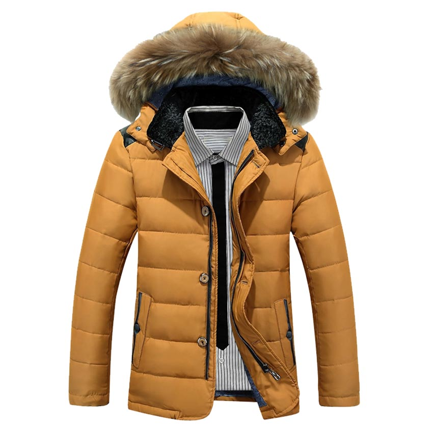 New Fashion Brand Clothing White Duck Down Jacket Men Middle Long Mens Winter Parka With Fur Hood Thick Men Winter Jackets 150wy