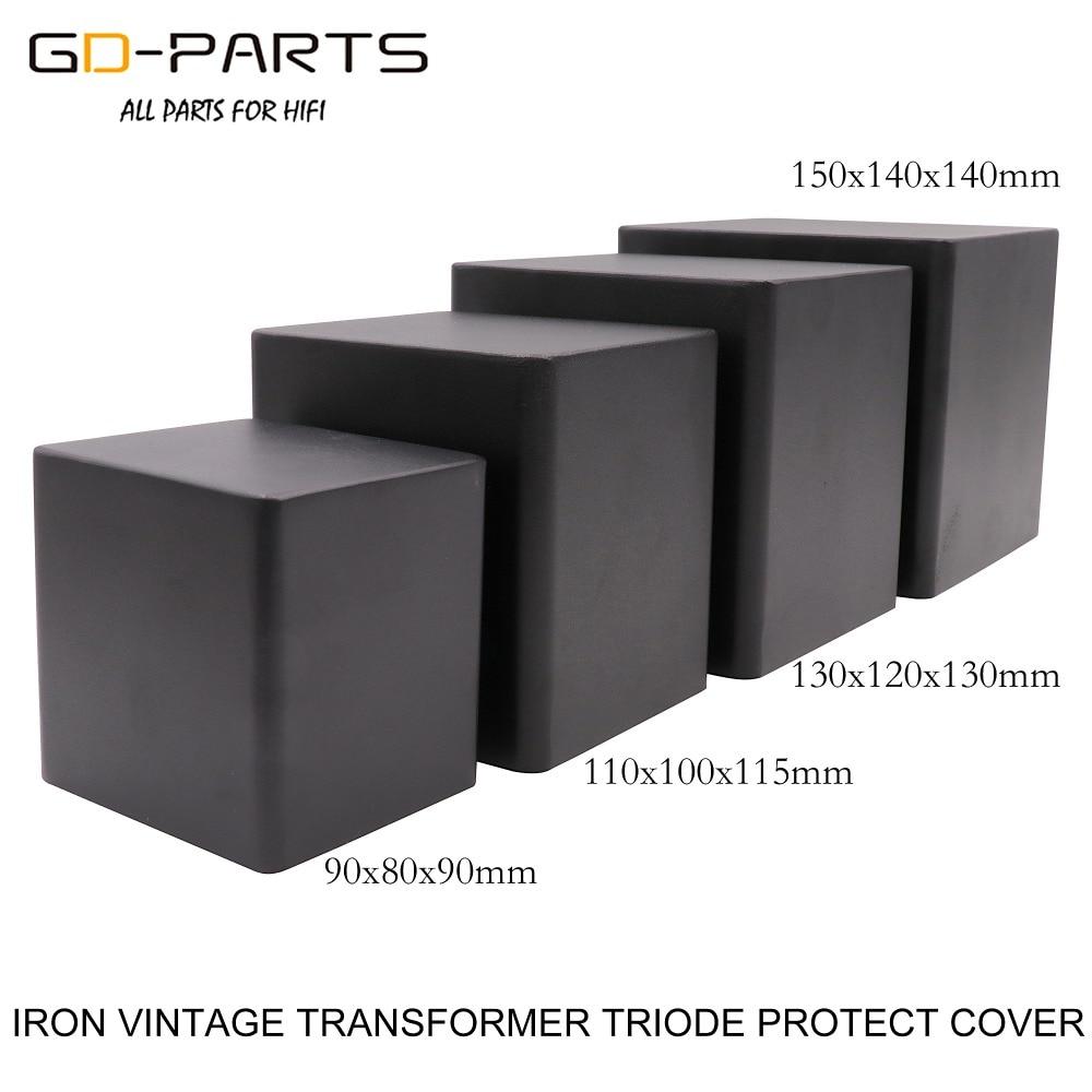 Защитный чехол для корпуса, чехол из железа для аудиоусилителя и триодного трансформатора, 90*80*90 мм, 110*100*115 мм, 130*120*130 мм, 150*140*140