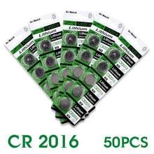 YCDC 2016 Горячая продажа 50 шт. 3 В литиевая батарея для монет DL2016 KCR2016 CR2016 LM2016 BR2016 EE6278 52% скидка