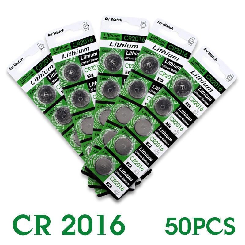 YCDC 2016 venda Quente 50 Pcs 3 V Células de Lítio Coin Botão Bateria CR2016 DL2016 KCR2016 BR2016 LM2016 EE6278 52% off