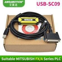 USB SC09 Adatto Mitsubishi FX/Una Serie PLC Cavo di Programmazione NUOVO DISEGNO SC 09