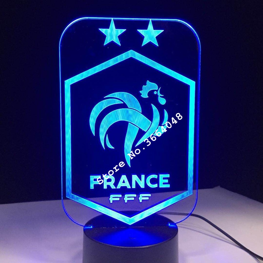 3D Stylish LED Lamp Touch Sensor Football 3D Night Light for Soccer Sports Fan Best Gift 7 Color Changing Lighting Lamp Dropship