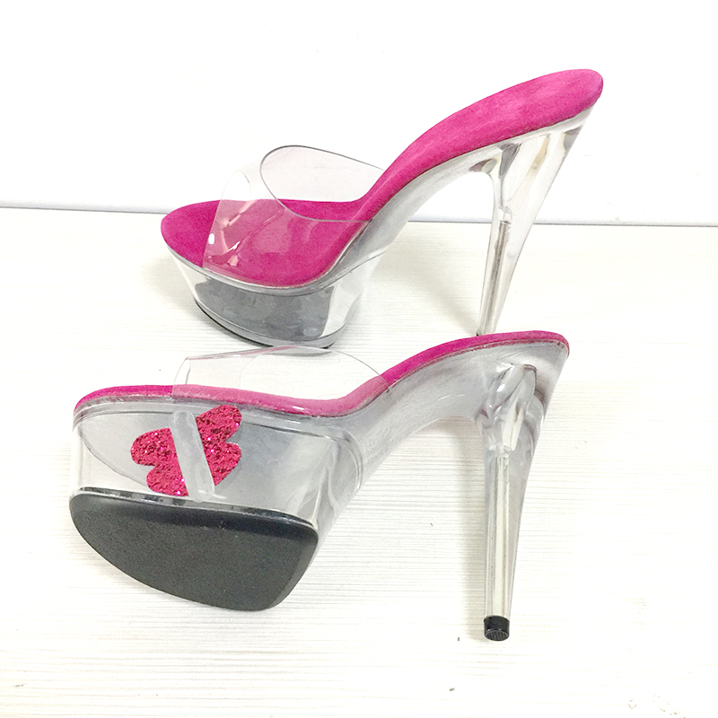 Claros Toe Tacones Cm Verano Transparente 15cm Mariposa Zapato 15 Señoras Mujer Heel Peep Cristal Zapatillas Zapatos Rose Diapositivas Plataforma Rosa Altos nwx0qa8Tw4