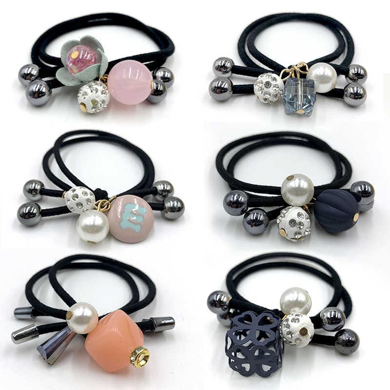6 teile/satz Mode Blume Scrunchie Frauen Mädchen Elastische Haar Gummibänder Zubehör Für Mädchen Dame Krawatte Haar Seil Ring Kopfschmuck