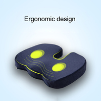 Memory Foam Gel Seat Cushion Non Slip Back Pain Sciatica Relief Chair Cushions for Home Office Car HG99