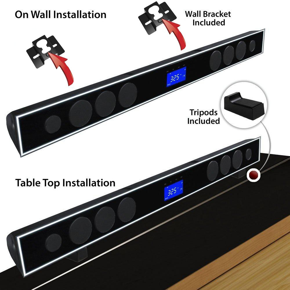 Wireless Home Theater System Bluetooth Soundbar Speaker Built In Subwoofer With Usb Sd Fm Aux Tv Optical Coaxial Touch Screen Theatre From