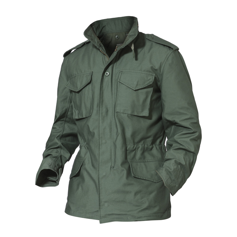 M65 Large Size Jungle Waterproof Jacket+Detachable Liner Windbreaker Tops Outdoor Hiking Hunting Wear Army Tactical Hooded Coats