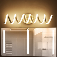 Modern minimalist bedroom wall lamps 16w AC96V 260V LED Sconce black white lamp hall lighting decoration